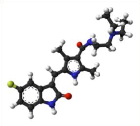 Model of a sunitinib molecule