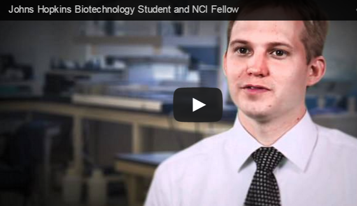 link to you tube video about chris larrimore biotechnology student