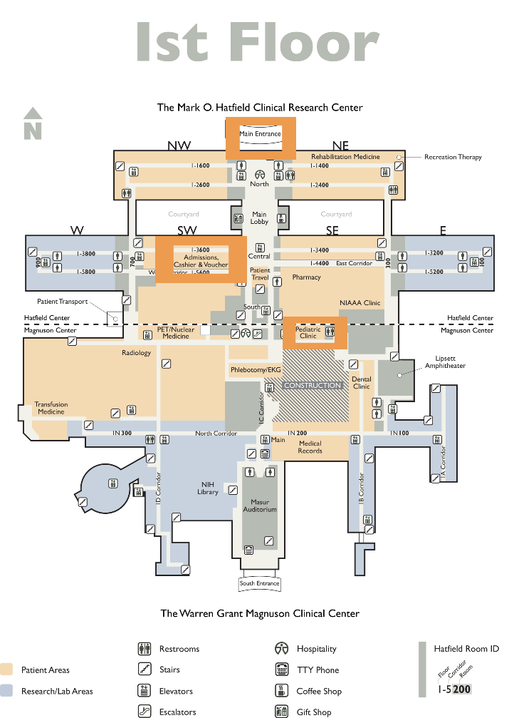 NIH Clinical Center Map