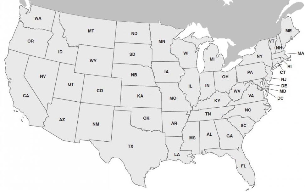 Comparative Oncology Program Consortium map of the United States of America