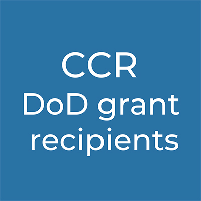 CCR DoD grant recipients