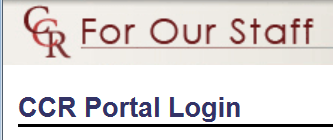 login to the ccr portal