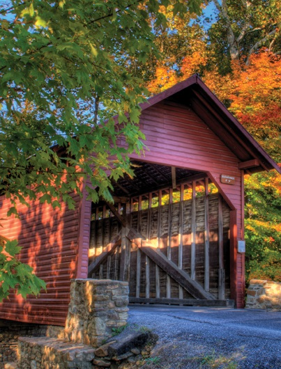 from the frederick maryland website a photo of a local covered bridge