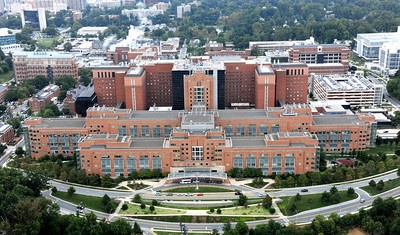 Aerial view of the NIH Bethesda Campus