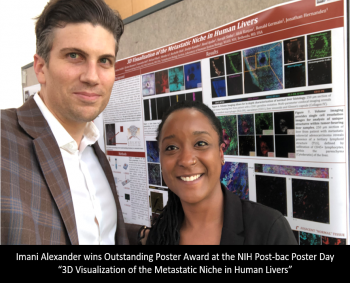 Imani Alexander wins Outstanding Poster Award at the NIH Post-bac Poster Day