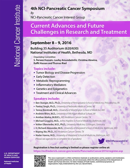 Pancreatic Cancer Symposium flyer