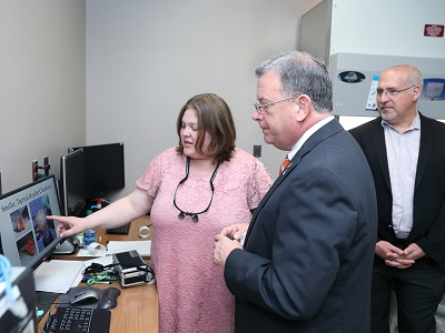 Commissioner David A. Wright of the U.S. Nuclear Regulatory Commission visits the Ex Vivo Lab