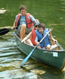 canoeing at camp fantastic