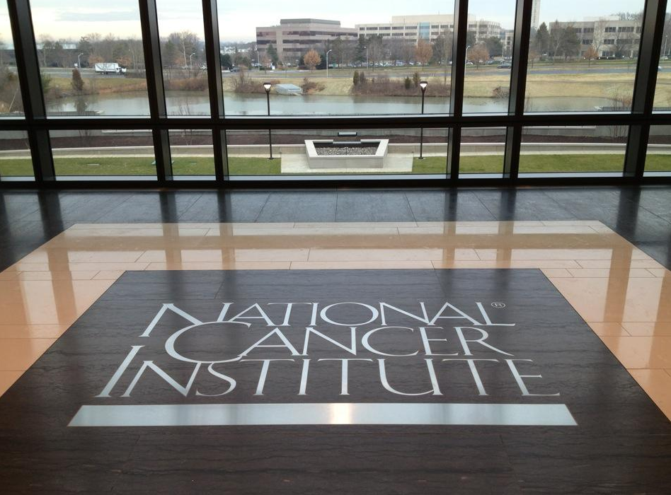 The National Cancer Institute floor tile at shady grove