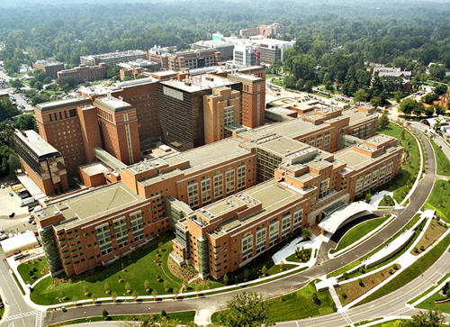 Building 10 on the Bethesda campus, the nation's largest hospital devoted entirely to clinical research.