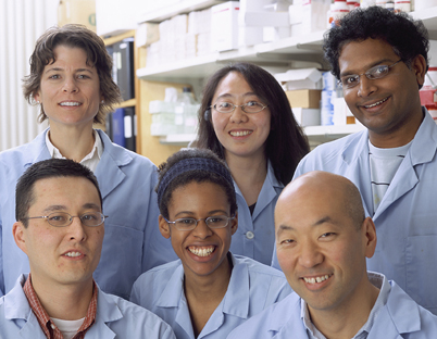 Investigators from the Cancer and Developmental Biology Laboratory circa 2009.