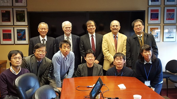 Visitors from Japan with Drs. Glenn Merlino and Helman