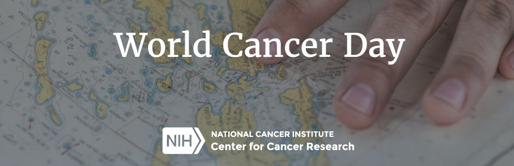 World Cancer Day banner with map